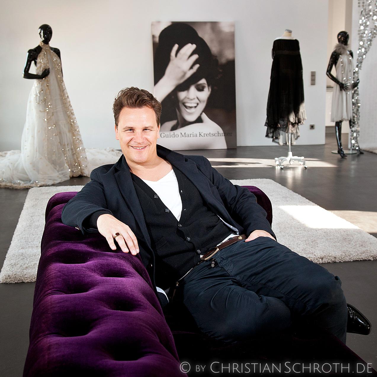 Modemacher Guido Maria Kretschmer in seinem Showroom